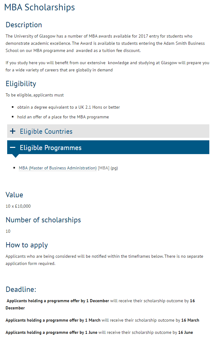 University Of Glasgow Scholarships For International Students In Uk