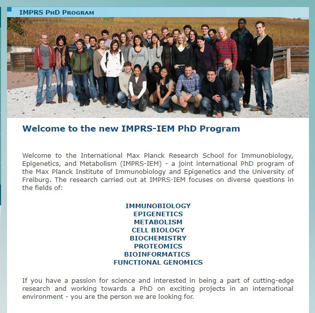 IMPRS-IEM PhD Fellowship Program for International Students